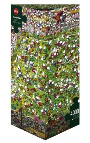 HY29072 - Heye Puzzles - Triangular , 4000 Pc - Crazy World Cup, Mordillo