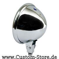 Bates Chrom Scheinwerfer Gehäuse für 5 3/4 Zoll Harley Bobber Chopper Custom