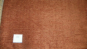 Rust Colored Chenille Upholstery Fabric 1 Yard R120 Ebay