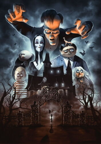 """005 The Addams Family 2019 Animation Comedy Family Movie 24/""""x33/"""" Poster"""