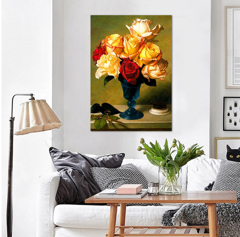 3D Gelbe vase 623 Fototapeten Wandbild BildTapete Familie AJSTORE DE Lemon