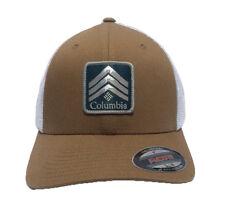 3193a6ad6a4fb Columbia Rocky Peak Ridge Flexfit Mesh Ball Cap Hat Red   White S m ...