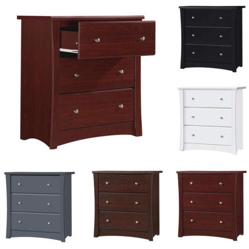 Baby Dresser 3 Drawer Nursery Chest Organizer Wood Kids Clothes Diaper Storage