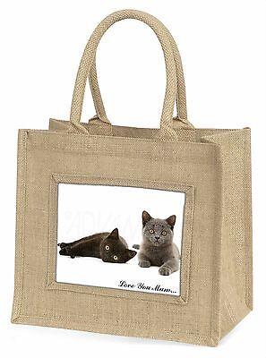 Kätzchen 'Liebe, die Sie Mama' Große Natürliche Jute-einkaufstasche Weihnachten