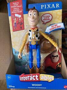 "Disney Pixar Interactables Toy Story Woody Talking Action Figure 8"""