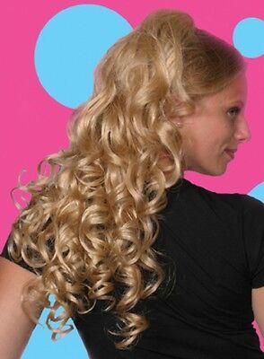 "23"" LONG LOOSE BIG CURLS CURLY HAIR PONYTAIL HAIRPIECE INTERLOCKING COMBS HAIRDO"