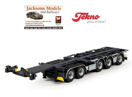 TEKNO Camion 65880 D-Tec Combitrailer 5 Essieux container remorque simple noir 1 50