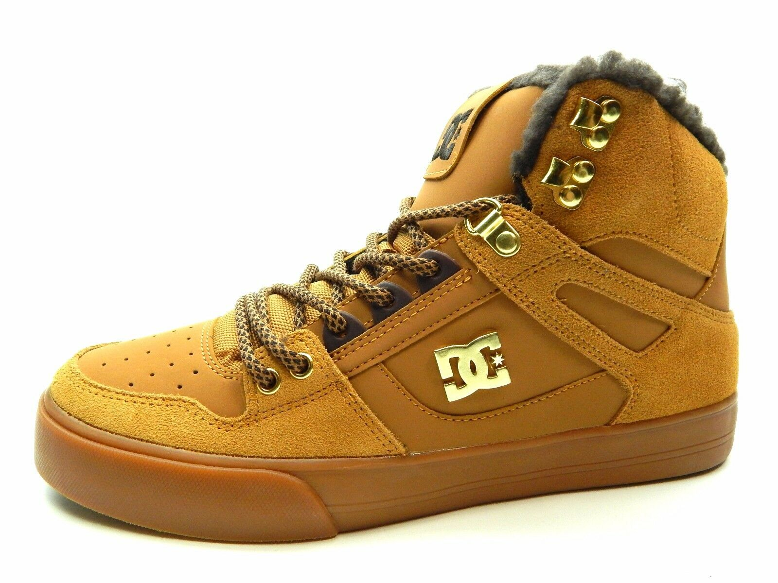 DC SPARTAN  HIGH WC WNT Wheat Dark Chocolate uomo Shoes Size 8 Scarpe classiche da uomo