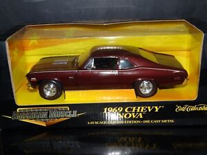 ertl american muscle 1969 chevy nova 396 1:18 scale diecast model