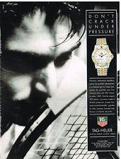 Publicité Advertising 1991 La Montre Tag-Heuer serie 1500