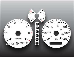 1997-1998-Lincoln-Mark-VIII-Dash-Cluster-White-Face-Gauges-97-98