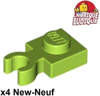 Lego 6x Brick Brick Modified 2x2 Vertical o Clip Hook Black//Black 30237b New