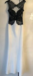 BNWT-White-And-Black-Lace-Bodice-Long-Evening-Dress-Lipsy-Size-10