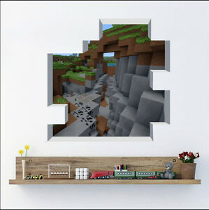 Image is loading 2016-New-Minecraft-Wall-Stickers-Wallpaper-Kids-Room- & 2016 New Minecraft Wall Stickers Wallpaper Kids Room Decal Home ...