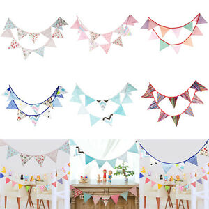 12-Flags-3-2m-Fabric-String-Flags-Wedding-Birthday-Party-Pennant-Bunting-Banner