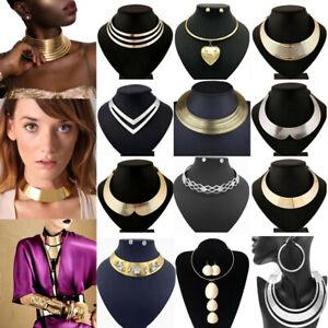 Chic-Women-Metal-Necklace-Chain-Pendant-Statement-Chunky-Bib-Collar-Choker-Charm