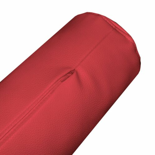 pb309g Bright Red Soft Faux Leather Skin Bolster Cushion Cover Yoga Neck Case