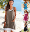Womens-Boho-Solid-Sleeveless-Ladies-Summer-Beach-Loose-Midi-Long-Dress-Long-Top thumbnail 1