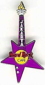 Hard-Rock-Cafe-JAKARTA-1990s-Monas-TOWER-Neck-on-Mauve-STAR-Guitar-PIN-HRC-3715