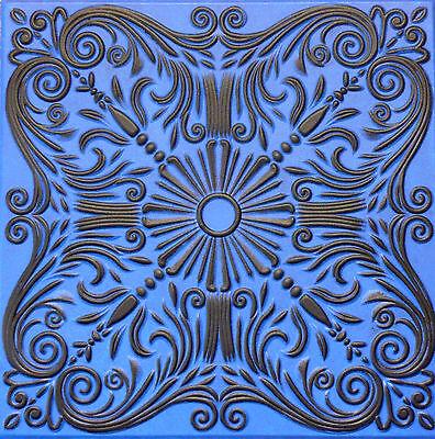 R30A Black Blue On SALE Decorative Texture Ceiling Tiles Glue UP