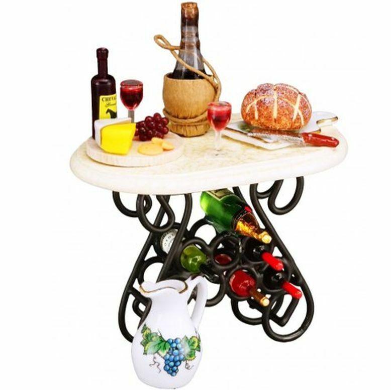 2019 DOLLHOUSE Filled Wine Tasting Table Reutter 1.855 0 Miniature