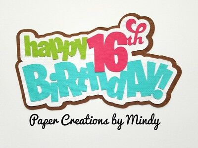 CRAFTECAFE MINDY BIRTHDAY cake Party premade paper piecing TITLE scrapbook