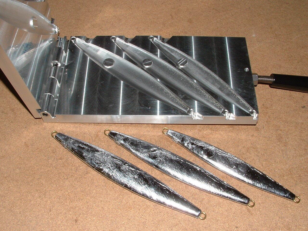 Plantilla de peces de agua salada Molde de -5 8, 10, 12oz CNC Aluminio