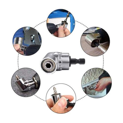 105 Angle Screwdriver Socket 1//4 6mm Holder Adaptor Extension Hex Drill Bits Set
