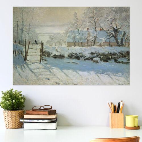 Die Elster Claude Monet Poster
