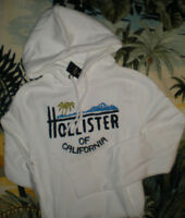 Hollister Soft Dana Strands Beach Sweatshirt Hoodie Med Or Large White