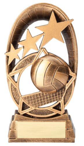 """Radiant Series Volley-ball résine Trophée Gravé FREE-L/' expédition rapide 6.5/"""""""