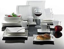 30PC Complete Dinner Set Square Plates Cup Ceramic Dinnerware Kitchen Dining Set