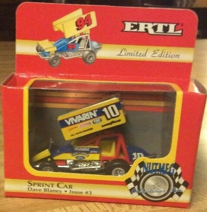 Vintage 1994  Dave Blaney Nutmeg Collectibles Ertl Sprint Car 1 64
