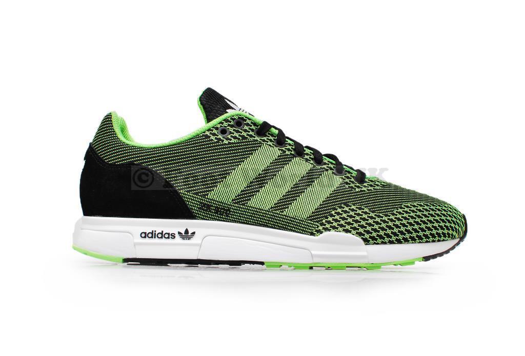 Hommes Adidas ZX 900 Weave light weight running - M19805 - Noir Green Trainer