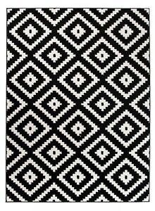 Designer Teppich Schwarz Weiß Geometrische Modern Muster Wohnzimmer