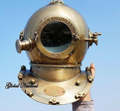 Vintage antique 18 Inch diving divers helmet deep sea anchor engineering 1921