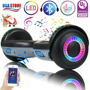 6-5-034-Bluetooth-Hoverboard-LED-Self-Balance-Electric-Scooter-Black-Gray-No-Bag-US
