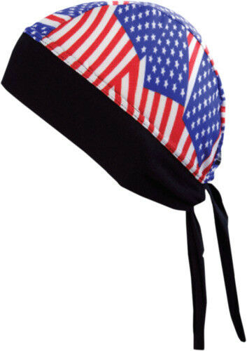 Schampa American Flags Z-Wrap Stretch Headwrap for for Motorcycle Offroad