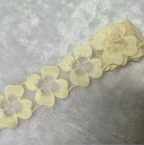 BF11 5cm,1 Yard Costumes Handicrafts Embroidered Net Lace Trim Ribbon cotton