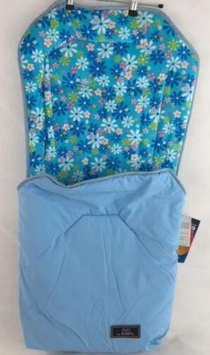 eckert Duo Fußsack Babyfußsack Kinderwagensack Micro Fibre blau geblümt  K 14