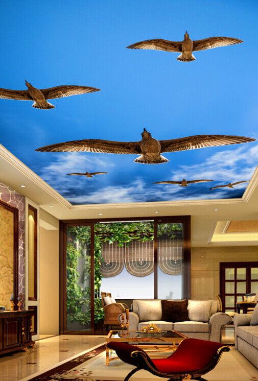 3D Eagle Blau Sky 78 Wall Paper Wall Print Decal Wall Deco AJ WALLPAPER Summer