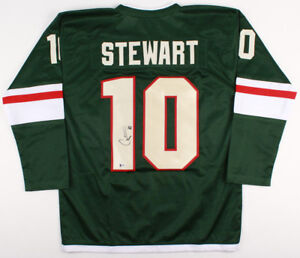 buy online b87c1 7a2c1 Details about Chris Stewart Signed Minnesota Wild Jersey (Beckett)18th  Overall pick 2006 Draft