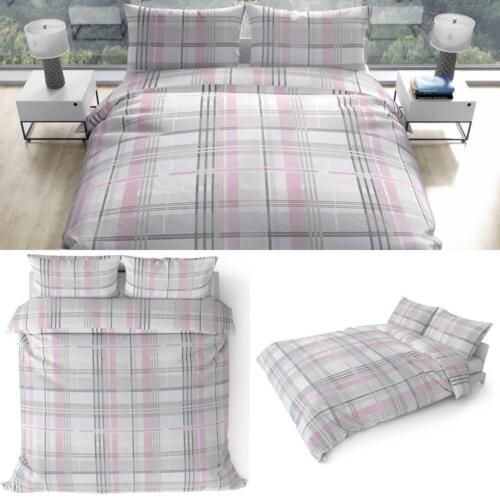 Pink Duvet Covers Tartan Check Leavesden Luxury Duvets Quilt Cover Bedding Sets