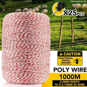 1000M-Electric-Fence-Polywire-Polyrope-Wire-Poly-Rope-With-25PCS-Insulators
