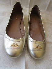Coach Chelsea Womens Size Gold Metallic Flats Loafers Shoes - size 7