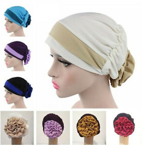 Women-Muslim-Stretch-Turban-Hat-Wrap-Hijab-Cap-Chemo-Cap-Hair-Loss-Head-Scarf