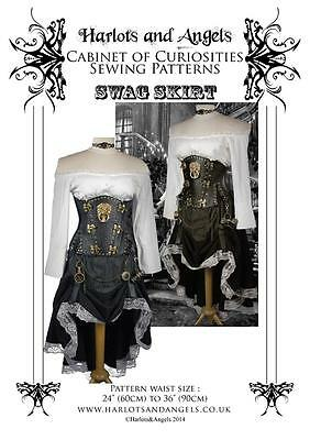 Steampunk Hiked skirt Sewing pattern. Wild west Firefly All sizes in one pattern