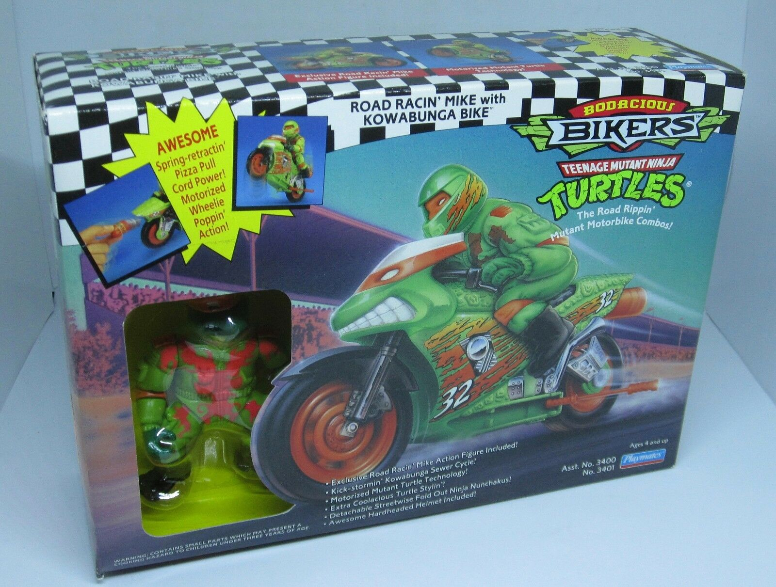 Teenage Mutant Ninja Turltes ROAD RACIN' MIKE Bodacious Bikers