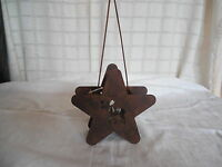 Crazy Mountian Metal Star Votive Holder W/moose Design