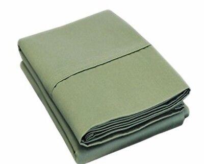 (2) Luxor Style Misto Cotone Federa 400tc ~ Scuro Salvia ~ King Size 21 X 40 Vendite Economiche 50%